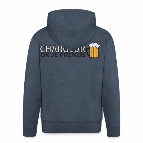 Homme Premium Chargeur Bière - Veste à capuche Premium Homme