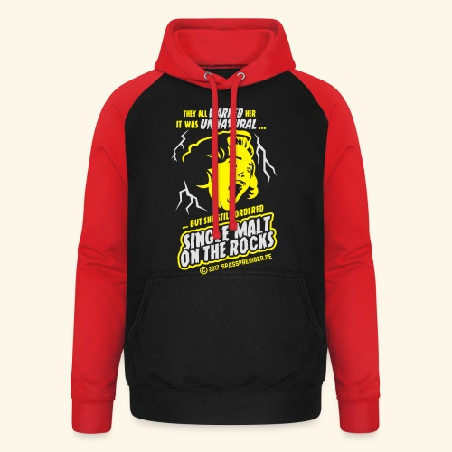 Single Malt on the Rocks - das Original - Unisex Baseball Hoodie
