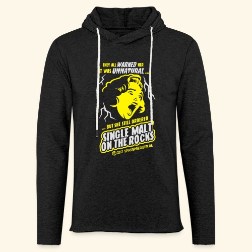 Single Malt on the Rocks - das Original - Leichtes Kapuzensweatshirt Unisex