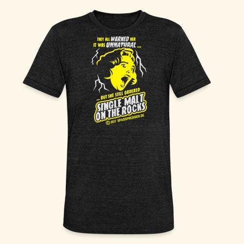 Single Malt on the Rocks - das Original - Unisex Tri-Blend T-Shirt von Bella + Canvas