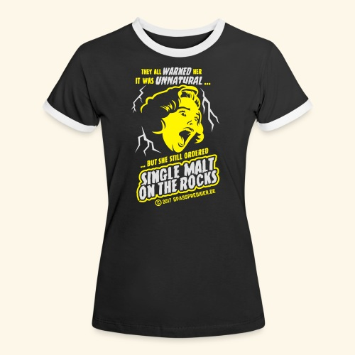 Single Malt on the Rocks - das Original - Frauen Kontrast-T-Shirt