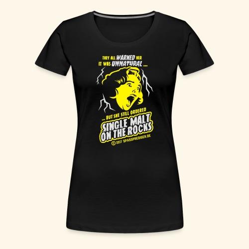 Single Malt on the Rocks - das Original - Frauen Premium T-Shirt