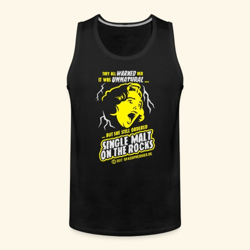 Single Malt on the Rocks - das Original - Männer Premium Tank Top