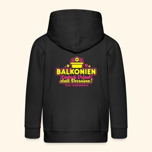 Balkonien: Einfach Urlaub statt Verreisen! - Kinder Premium Kapuzenjacke