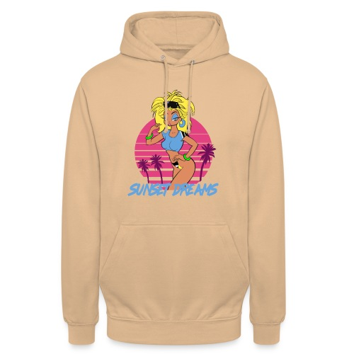 Sunset Dreams Pinup Yellow - Unisex Hoodie