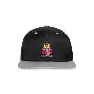 Sunset Dreams Pinup Yellow - Kontrastivärinen snapback-lippis