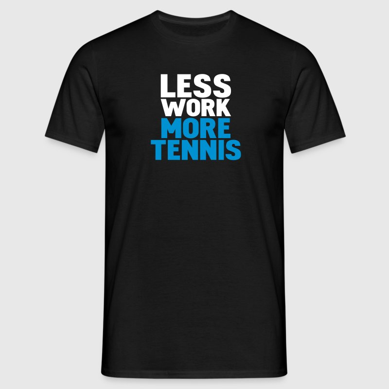 Nero less work more tennis T-shirt - Maglietta da uomo