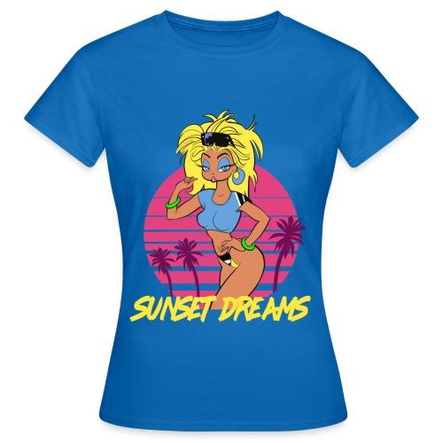 Sunset Dreams Pinup Blue - Naisten t-paita