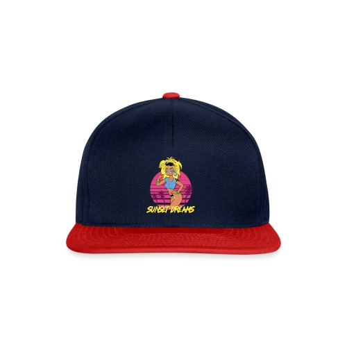 Sunset Dreams Pinup Blue - Snapback Cap