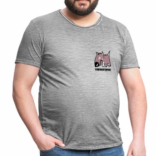 Vorsicht bissig - Männer Vintage T-Shirt