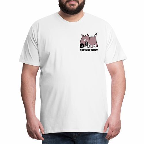 Vorsicht bissig - Männer Premium T-Shirt