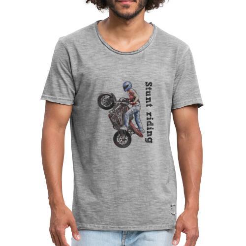 Stunt Riding - Camiseta vintage hombre