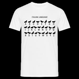 Italienische Sprache Shirt - Männer T-Shirt