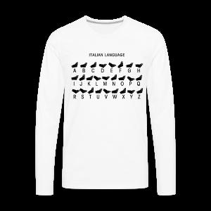 Italienische Sprache Shirt - Männer Premium Langarmshirt