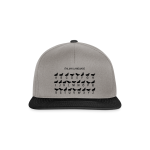 Italienische Sprache Shirt - Snapback Cap