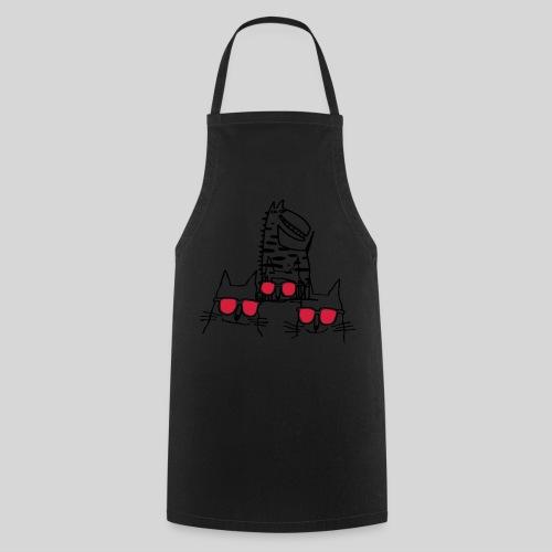 coole katzen-Stofftasche - Kochschürze