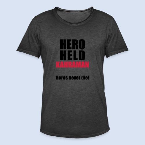 Hero Shirt Erdogan Shirt - Turkey Türkei #Erdogan #Türkei - Männer Vintage T-Shirt