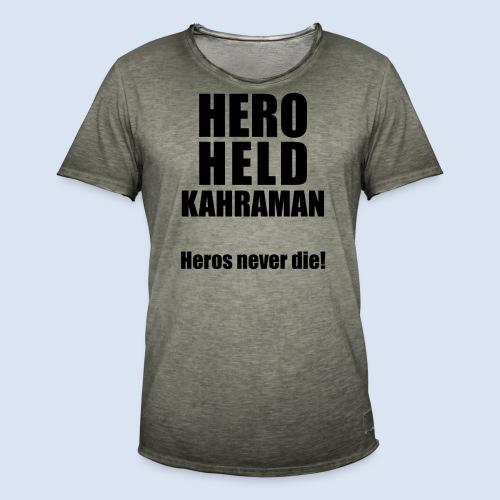 Hero Shirt Erdogan Shirt - Turkey Türkei #Erdogan #Kahraman - Männer Vintage T-Shirt