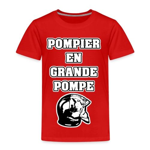 POMPIER EN GRANDE POMPE - JEUX DE MOTS - FRANCOIS VILLE - T-shirt Premium Enfant