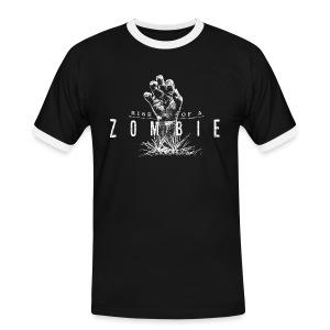 Rise of a Zombie - Männer Kontrast-T-Shirt