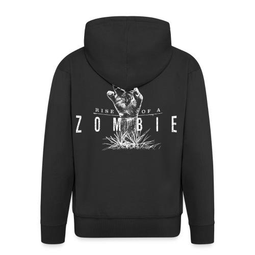 Rise of a Zombie - Männer Premium Kapuzenjacke