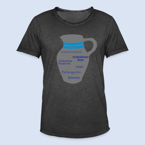 FRANKFURT DESIGN - Stadtbesichtigung #Bembel - Männer Vintage T-Shirt