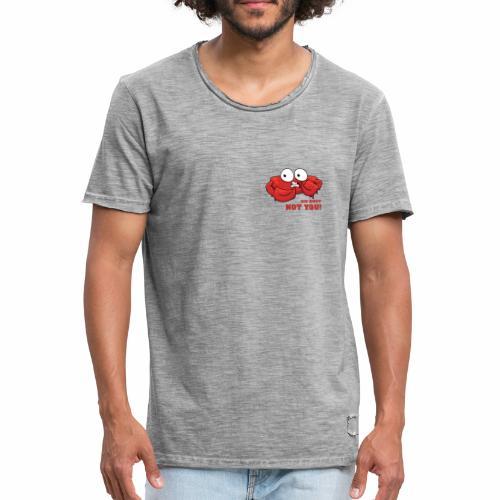 Oh nein, nicht DU! - Männer Vintage T-Shirt