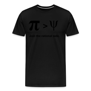 Pi larger than Psi. Join the rational side. - Männer Premium T-Shirt