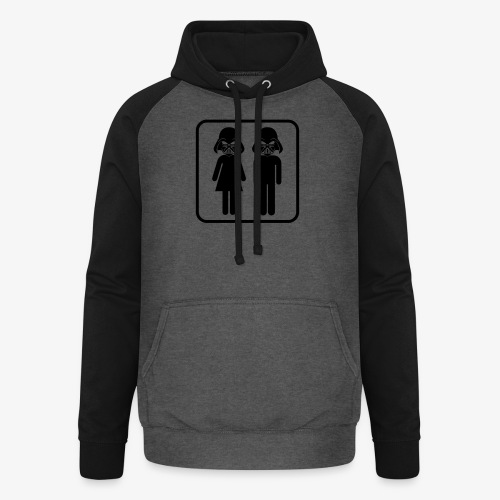 Dark Side Toilet - Unisex Baseball Hoodie