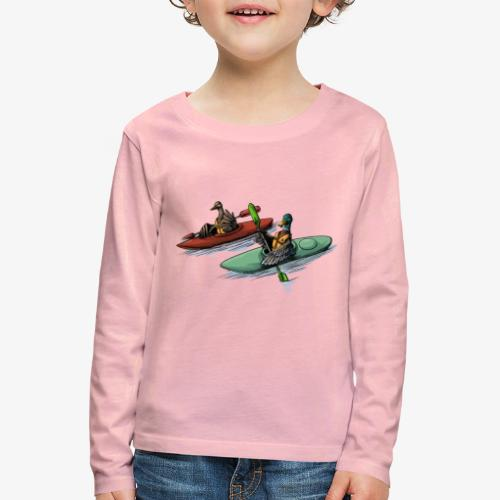 Duck Kayak - Kids' Premium Longsleeve Shirt