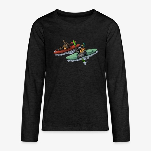 Duck Kayak - Teenagers' Premium Longsleeve Shirt