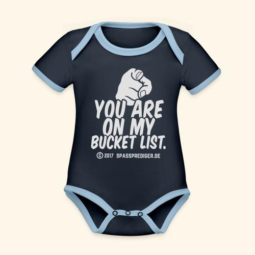 Bucket List - Baby Bio-Kurzarm-Kontrastbody
