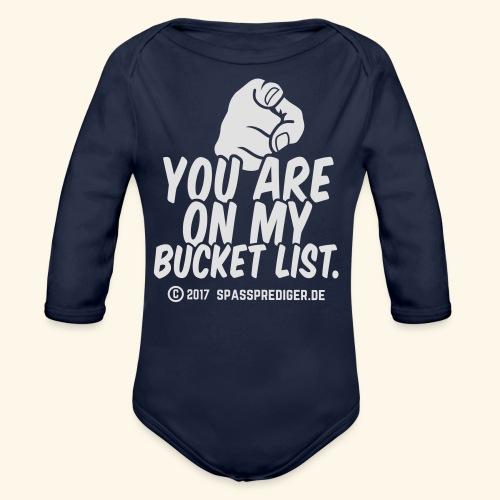 Bucket List - Baby Bio-Langarm-Body