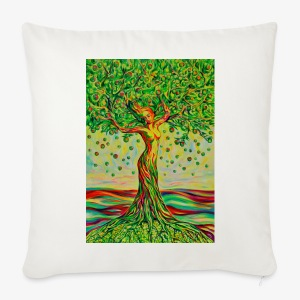 Tree of Life Lebensbaum GREEN APPLE Stoffbeutel - Sofakissenbezug 44 x 44 cm