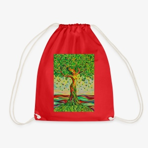 Tree of Life Lebensbaum GREEN APPLE Stoffbeutel - Turnbeutel
