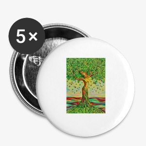 Tree of Life Lebensbaum GREEN APPLE Stoffbeutel - Buttons mittel 32 mm