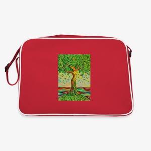Tree of Life Lebensbaum GREEN APPLE Stoffbeutel - Retro Tasche