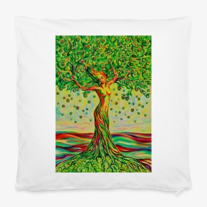 Tree of Life Lebensbaum GREEN APPLE Stoffbeutel - Kissenbezug 40 x 40 cm
