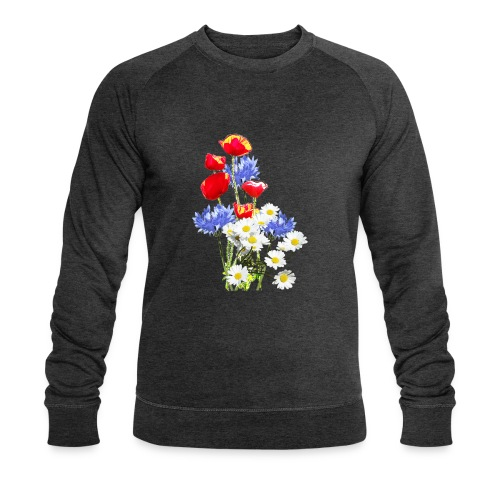Mohn-Kornblumen,Margerite - Männer Bio-Sweatshirt von Stanley & Stella