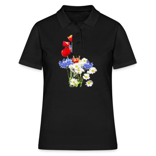 Mohn-Kornblumen,Margerite - Frauen Polo Shirt