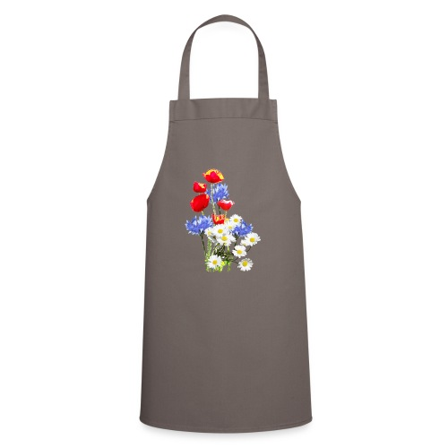 Mohn-Kornblumen,Margerite - Kochschürze