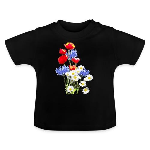 Mohn-Kornblumen,Margerite - Baby T-Shirt