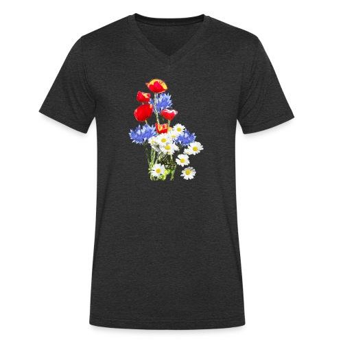 Mohn-Kornblumen,Margerite - Männer Bio-T-Shirt mit V-Ausschnitt von Stanley & Stella