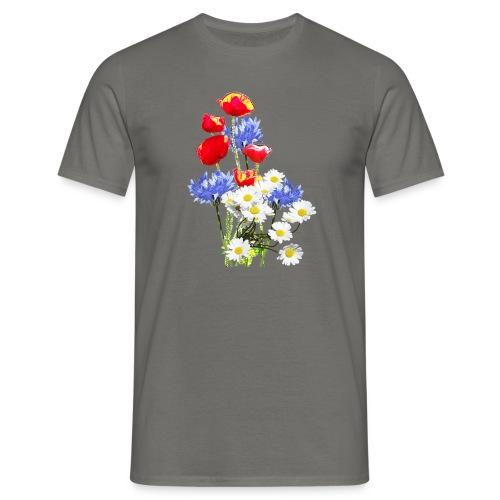 Mohn-Kornblumen,Margerite - Männer T-Shirt