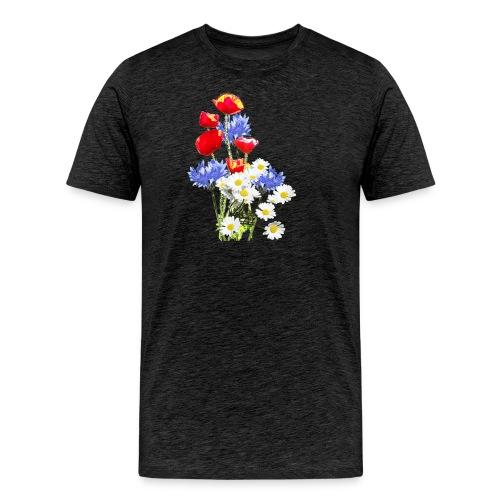 Mohn-Kornblumen,Margerite - Männer Premium T-Shirt