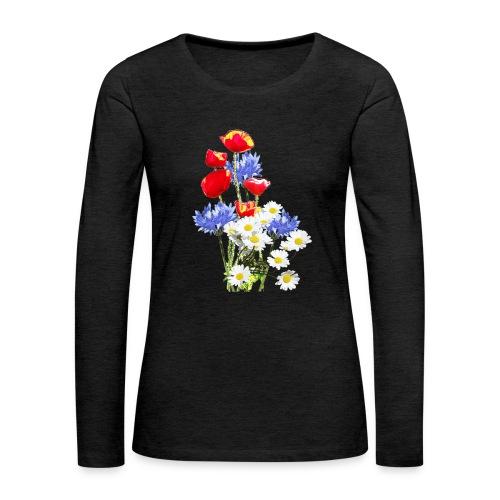 Mohn-Kornblumen,Margerite - Frauen Premium Langarmshirt