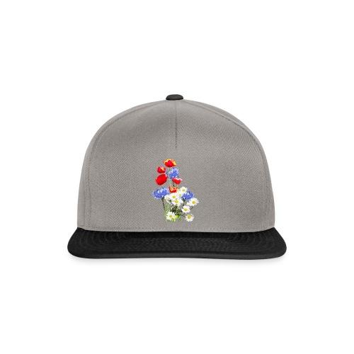 Mohn-Kornblumen,Margerite - Snapback Cap