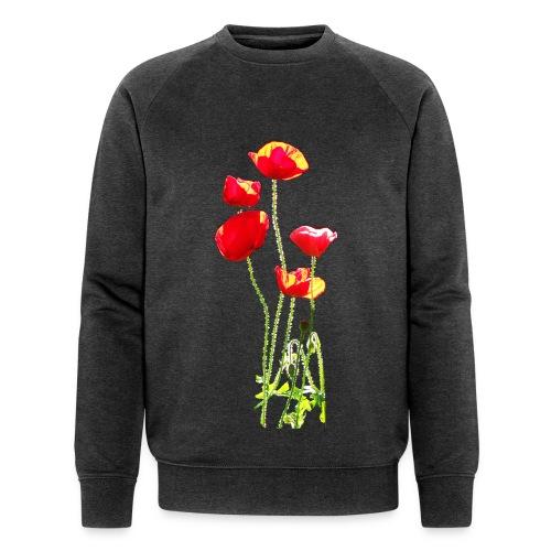 Mohn - Männer Bio-Sweatshirt von Stanley & Stella