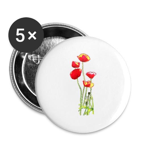 Mohn - Buttons groß 56 mm