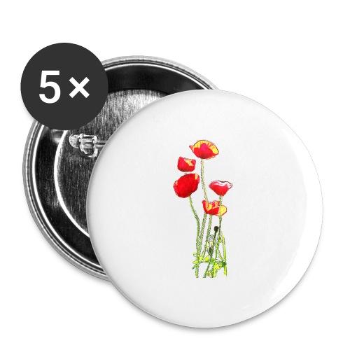 Mohn - Buttons mittel 32 mm